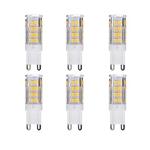 PRODELI G9 LED Bulb Corn Lights AC 220V 3.5W Warm White SMD 2835 Chip 360 Degree Beam Angle LED Light Bulb Pack of 6