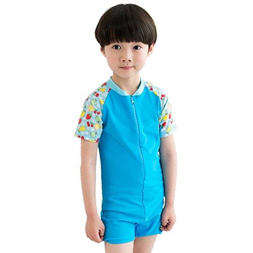 E Support® Kinder Junge Mädchen One Piece Short Sleeve UV Schutz Swetsuit Schwimmanzug Badeanzug Rash Guard Kinderneoprenanzüge Watersport
