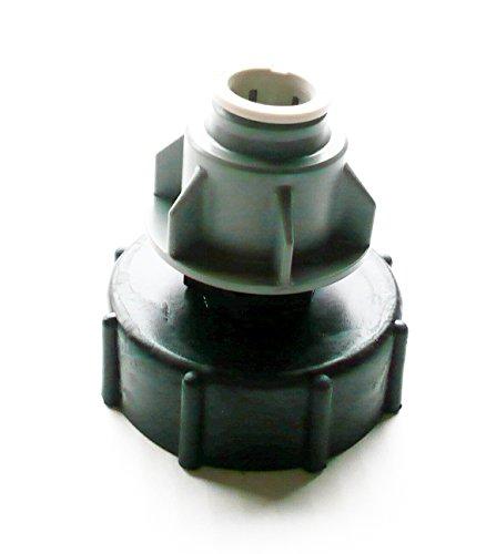 inscale IBC Adaptateur (5,1 cm S60 x 6 filetage épais) à 15 mm Vitesse de coupe Raccord de tuyau