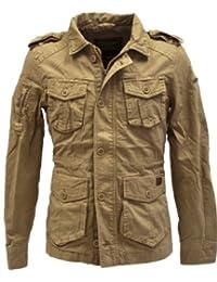 Young & Rich Herren Übergangs Jacke JK-404 vintage Look Slimfit, Grösse:M;Farbe:Beige
