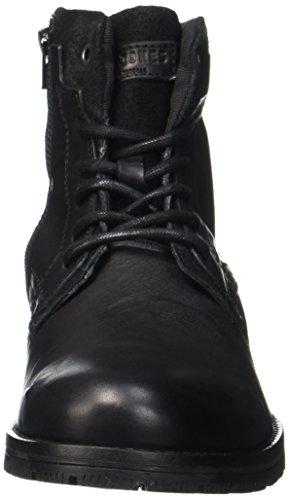 JACK & JONES Herren Jfwhanibal Leather Black Klassische Stiefel Schwarz (Black)