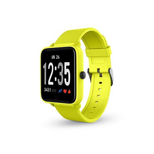 SPC Smartee Feel smartwatch waterproof de color amarillo con función multideporte