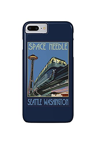 Seattle, Washington - Space Needle and Monorail (iPhone 7 Plus Cell Phone Case, Slim Barely There) - Monorail, Space Needle