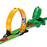Jersh★ Very Fun Creative Crocodile Catapult Toy, 2019 Interesting Children\'S Toy Mechanical Crocodile Catapult Toy Car Educational Track Car Children\'S Gift
