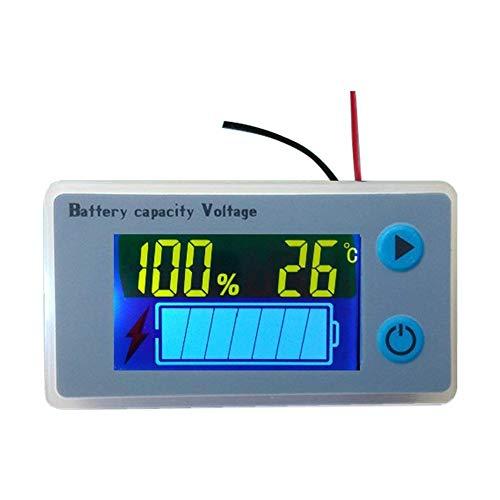 Voltmeter Tester Indikator mit Temperaturanzeige für Elektrofahrzeuge, Batteriekapazität, Multifunktionsmesser, Universelles Blei-Säure-Messgerät, digitales Spannungsmessgerät, LCD (36v Batterie Marine)