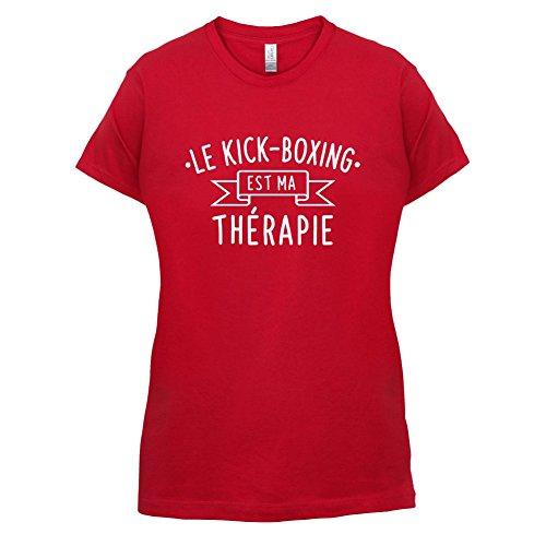 Le kick-boxing est ma thérapie - Femme T-Shirt - 14 couleur Rouge