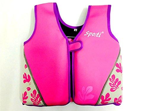 titop Infant babyoutdoor Sport Schwimmen Jacke unter 20lbs Kinder Schwimmen Weste Druck Pink klein