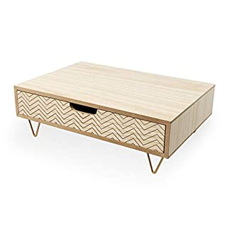 Balvi Monitor stand Nordic Wood colour Alza screens Drawer MDF wood 34,4cm