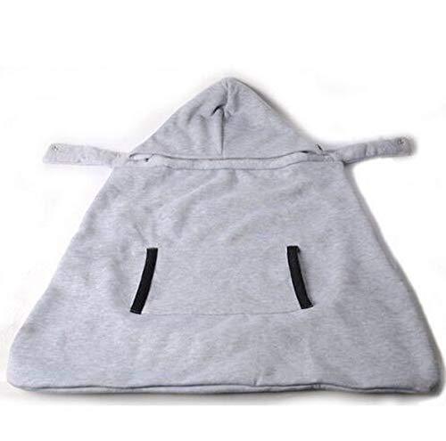 Tragecover für Baby Carrier Warm Wrap Sling Babytrage Winddicht Baby Rucksack Decke Träger Mantel Funtional Winter Cover (Grau)