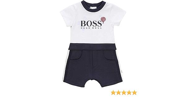 Ensemble T-shirt short coton BOSS BEBE COUCHE CIEL 12MOIS