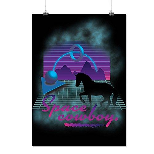 Pferd Platz Witz Mode 80er Jahre Pferd Mattes/Glänzende Plakat A3 (42cm x 30cm) | Wellcoda (80er Jahre Weiblich Symbole)