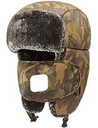 d2e79324f21 1 Válvula de respiración de invierno Unisex Bomber Sombreros Trooper Trapper  Caza Sombreros Orejeras Correa de barbilla con…
