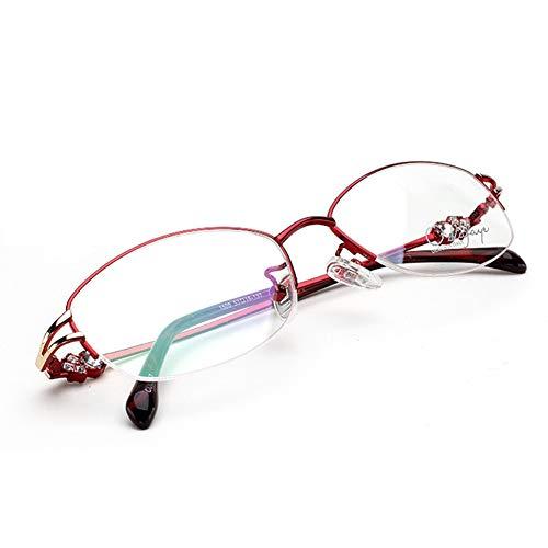 AYHMT Damen-Lesebrille X1, Spring Hinges Far and Near, Half Framed Diamonds, Leichte Lesebrille LesegeräT, Preis-Leistungs-VerhäLtnis, Tragbare Brille