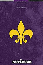 """Notebook: Saints Row Minimal Videogame Poster , Journal for Writing, College Ruled Size 6"""" x 9"""", 110 Pages"""