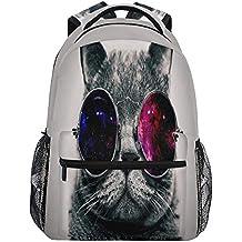 Wamika Mochila Impermeable para Llevar Gafas de Sol con diseño de Gato, Mochila para el
