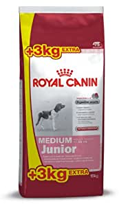 Croquettes chiot Medium Junior Royal Canin 15 KG + 3 KG Offerts