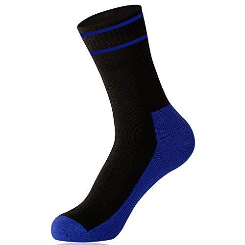 OTTER Wasserdicht Socken Knöchel Länge atmungsaktiv Trekking Skifahren Transparentpapier Socken für Damen und Herren (Schwarz & Blau, Mittlere Größe) (Herren Nylon-knöchel-socken)