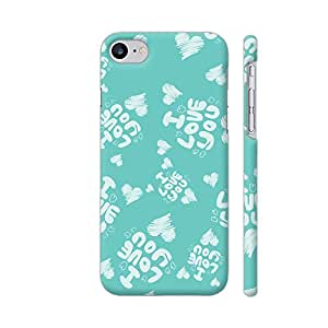 Colorpur iPhone 7 Cover - I Love You On Soft Green Printed Back Case