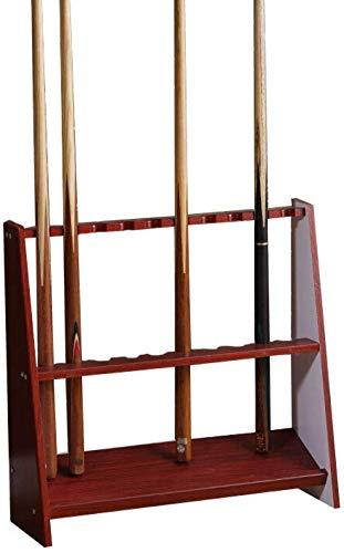 YPYJ Traditionelle Massivholz Freistehende Queuen Racks, Vertikal Cue Halter Bodenstehende, Steht Billiard Bar Raum Für Billiardsaales,#3
