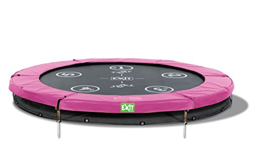 EXIT Trampolin Twist Ground rund Ø 183cm pink/grau 12.62.06.01