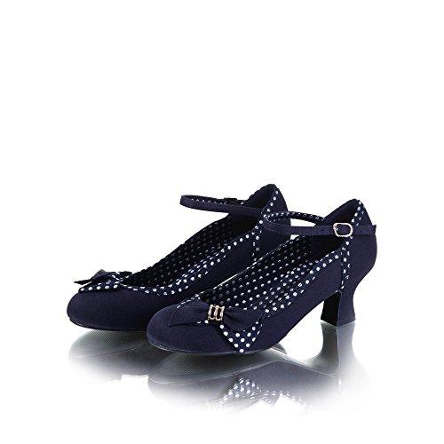 Ruby Shoo Damen Pumps Cordelia Polka Dot Schleifen Schuhe Blau Geschlossen 37 - 3