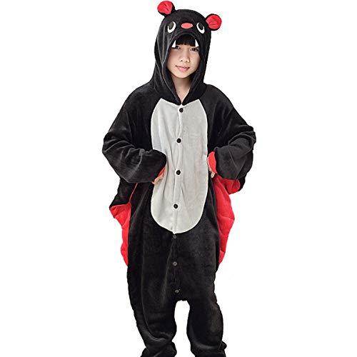 Pyjamas Kinder Tier-Schlafanzug Jumpsuit Nachtwäsche-Plüsch Einteiler Overall-Halloween Karneval Fasching