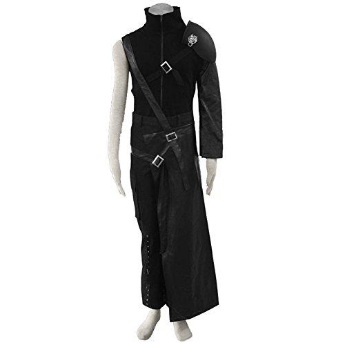 Cloud Strife Kostüm Cosplay Outfit Kleidung mit Schwert Tasche Halloween (Cloud Halloween Kostüm Strife)