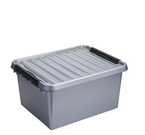 Plastique 36 (SUNWARE Q-Line Box - 36 Liter - 500 x 400 x 260mm - silber/schwarz)