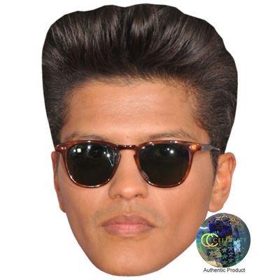 Bruno Mars (Shades) Maske aus Pappe