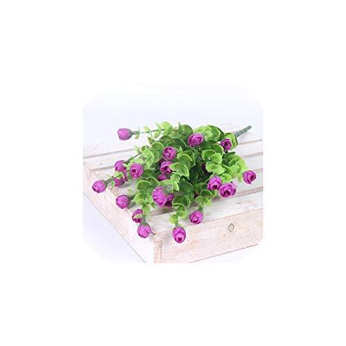 Eternity Bliss Künstliche Blumen Rose 30 Köpfe Seidenblumen Heim Garten-Dekorationen Blumenstrauß für Hochzeitsfest-Dekor, Hellpurpurner