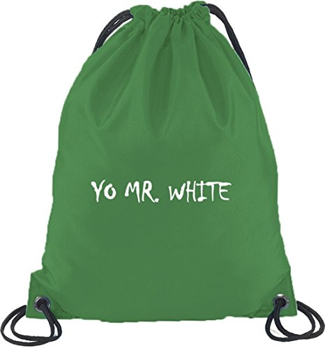 Shirtstreet24, YO MR. WHITE, Turnbeutel Rucksack Sport Beutel Kelly Green