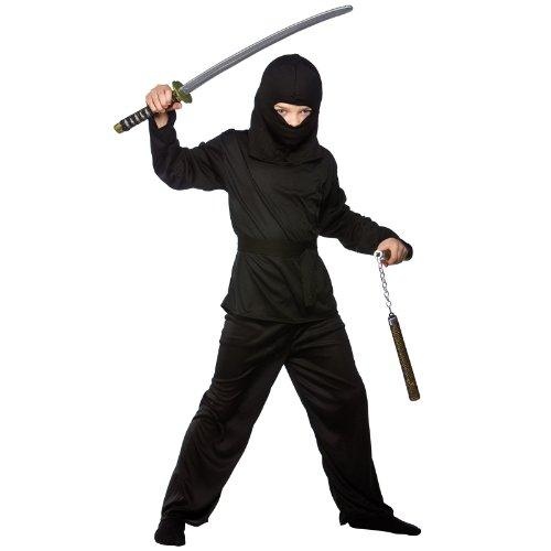 Boys Japanese Dark Ninja Shinobi Historical Halloween Party Fancy Dress ()