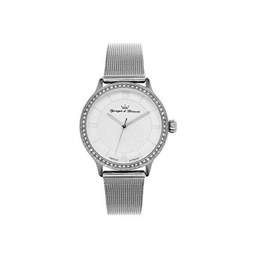 Orologio donna Yonger & Bresson bianca e argentata–DCC 095s-fm