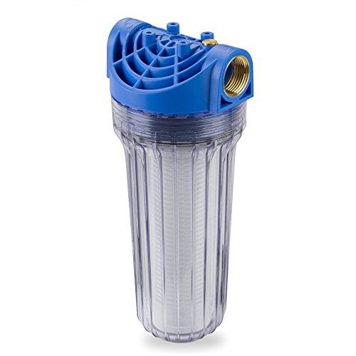Stabilo-Sanitaer Wasserfilter DN25 1 Zoll lang 2500L/Std Vorfilter Pumpenfilter Gartenpumpe Hauswasserwerk Hausanschluss für Wasserleitung Zisterne