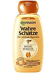 Garnier Wahre Schätze Shampoo, Honig Schätze, kräftigt, schützt und nährt strapaziertes und brüchiges Haar, 250 ml