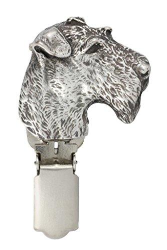 Drahthaar -Foxterrier, Silberstempel 925, Hund clipring, Hundeausstellung Ringclip/Rufnummerninhaber, limitierte Auflage, Artdog