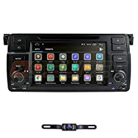 hizpo in Dash Car Stereo Radio Android 10 Car Stereo 7 Inch Touch Screen Applicable to BMW 3 Series BMW E46 BMW M3 1998 1999 2000 2001 2002 2003 2004 2005 + Backup Camera