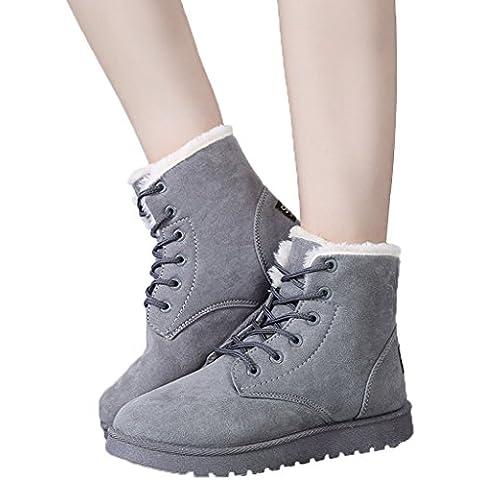 Minetom Mujer Fur Otoño Invierno Plano Botines Calentar Botas De Nieve Lazada Zapatos