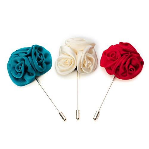 Hersteller: Bull & Drake Set 3 x Blumen Brosche Reversnadel Anstecknadel Hochzeit Pin Blütenbrosche