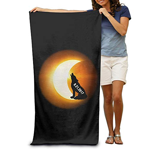 Gorgeous ornaments Wolf Howling Solar Eclipse Adults Cotton 31 X 51-Inch