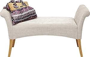 Ce banc est composé de pieds en bois de bouleau laqué et d'une assise au revêtement polyester rembourrée de mousse polyuréthane 30kg/m³. Son tissu au coloris sobre lui permet de s'accorder à une décoration scandinave, classique et également romantiqu...