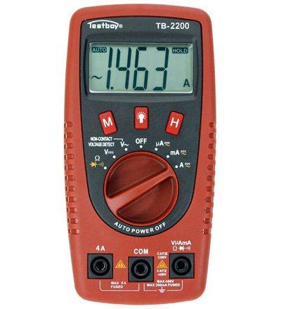 Preisvergleich Produktbild Digital Multimeter mit Spannungssensor und LED-Lampe,  Testboy®