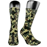 Needyo Cushion Chaussettes de Compression Camouflage Unisex Knee High Socks Classics Athletic Long Socks Stockings for Running,Cycling,Triathlon,Crossfit,Gym