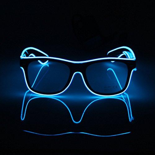 El Fashion Brille Light Up Shutter Form EL Draht Glow LED Sonnenbrille Rave Kostüm Party, Konzert, Festival, (Zu Kostüme Halloween Gute Leicht Machen)