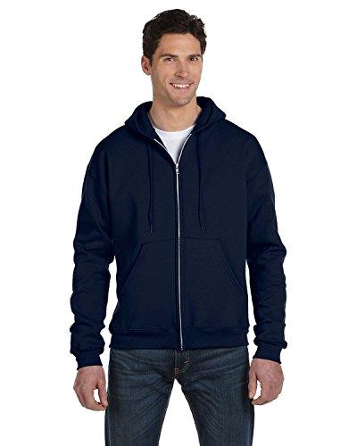 Erwachsenen 50/50 Full-Zip-Kapuzen-Sweatshirt, Navy, X-Large (Collegiate Kapuzen-pullover)