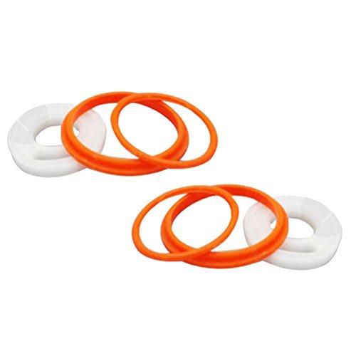 BESTOMZ Ersatz Dichtungsring O-Ring für Smok TFV8 Cloud Beast elektronische Zigarette Zubehör (Orange)