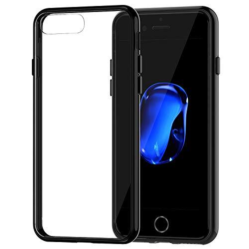 JETech Cover Compatibile iPhone 8 Plus e iPhone 7 Plus, Custodia con Paraurti Assorbimento degli Urti e Anti-Graffio, Trasparente