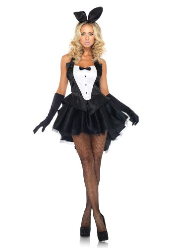 Leg Avenue 83951 - Tux & Tails Bunny Damen kostüm, Größe M/L (Schwarz-Weiss)