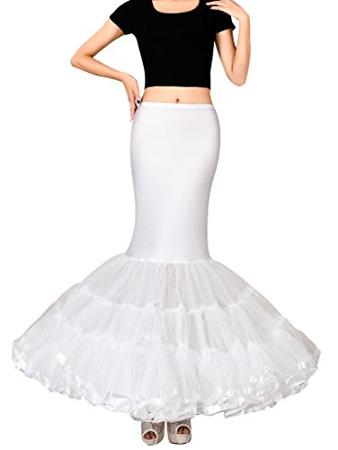 Edith qi Lycra Fishtail Meerjungfrau Reifrock Petticoat, Halb Rutscht Braut-Accessoires für...