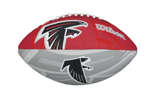 WILSON Football mit dem Logo des NFL Junior Teams, WTF1534IDAT, Atlanta Falcons, Für Kinder